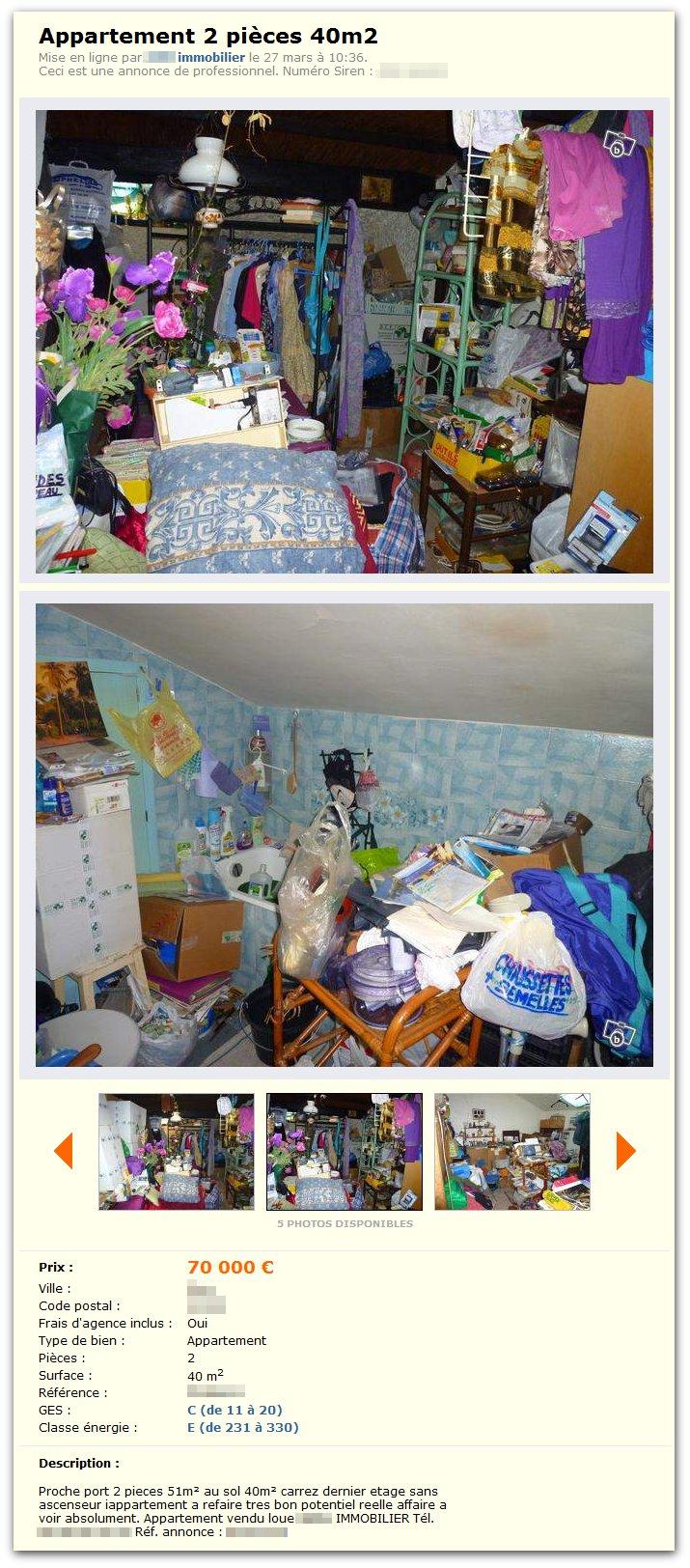 A vendre: Appartement 2 pièces 40m2