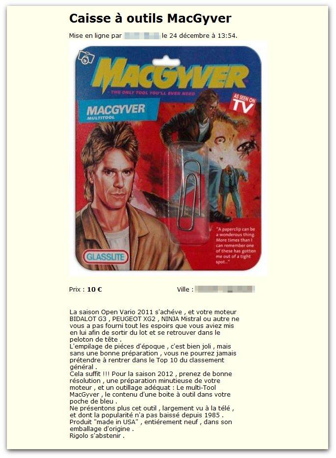 Caisse à outils MacGyver