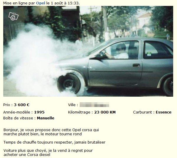 Opel Corsa (jamais brutalisée)