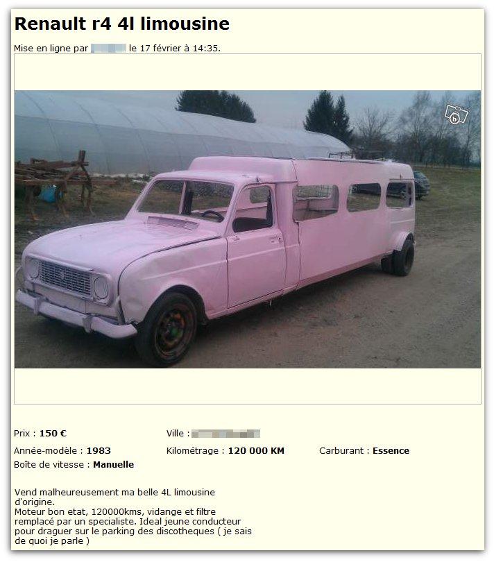 Renault 4L Limousine