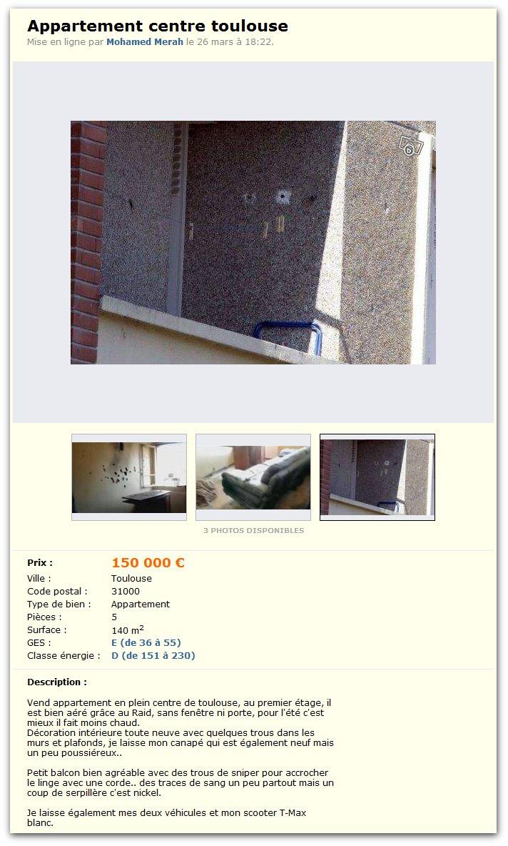 Appartement centre de Toulouse