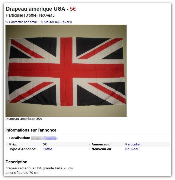Drapeau (pas) américain