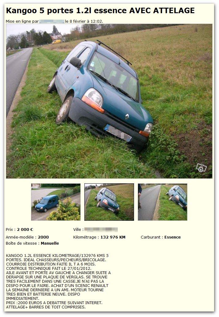 Renault Kangoo tout terrain