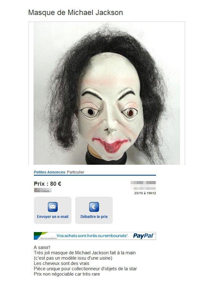 produits de commodité concepteur neuf et d'occasion nouveau design Masque de Michael Jackson