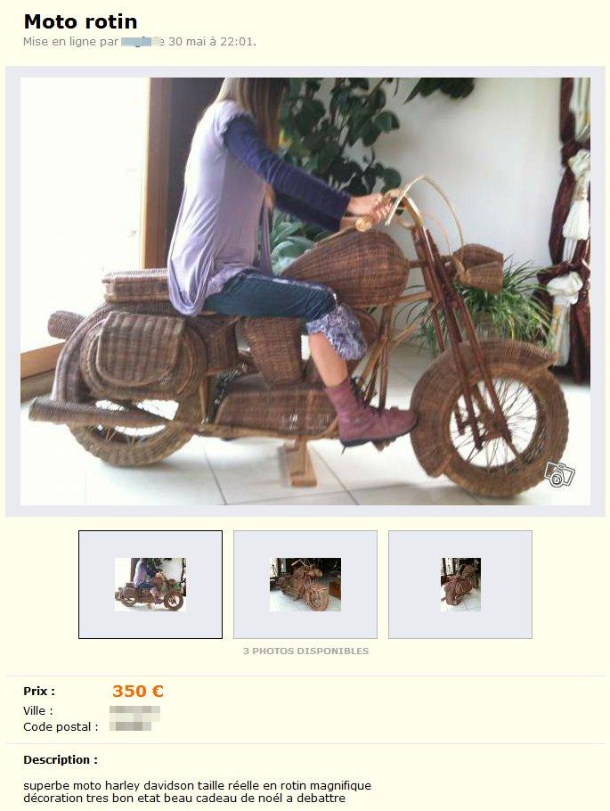 Moto en rotin