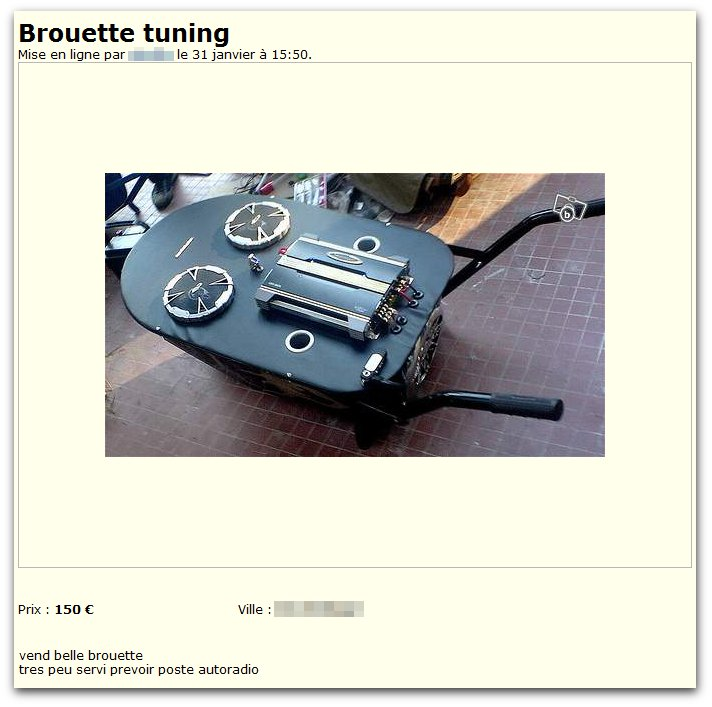 Brouette tuning