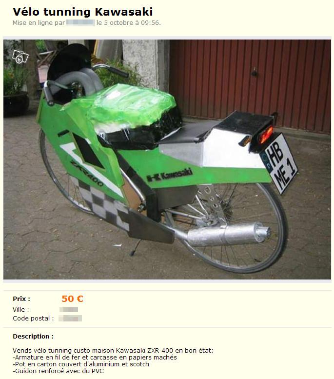 Vélo tuning Kawasaki