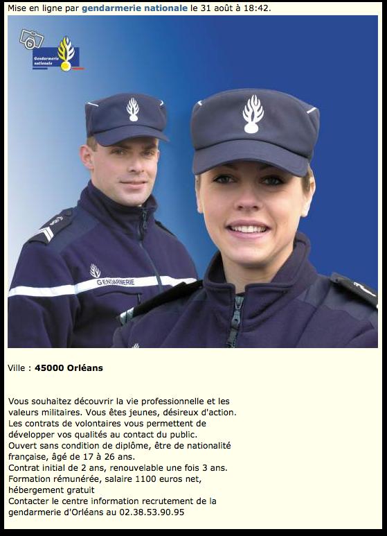 La Gendarmerie recrute sur Leboncoin.fr