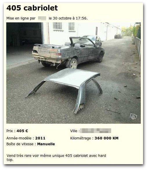 Peugeot 405 cabrioLOL