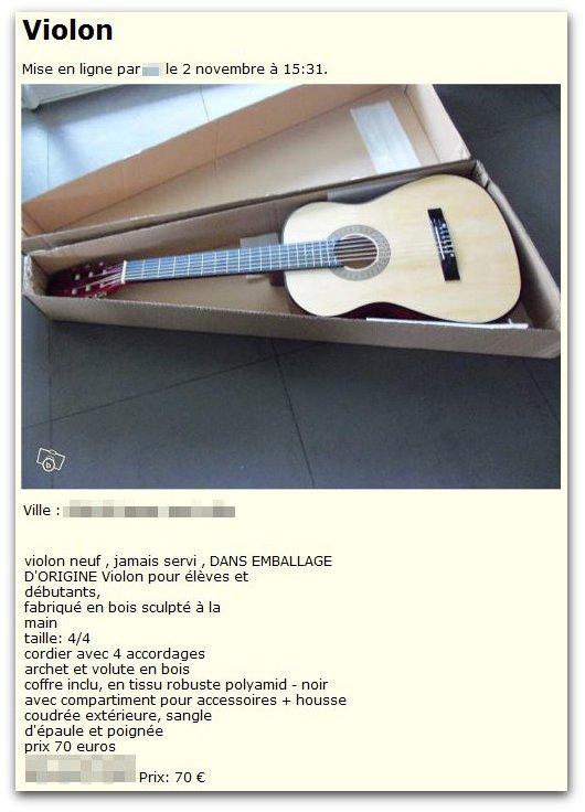 Drôle de violon