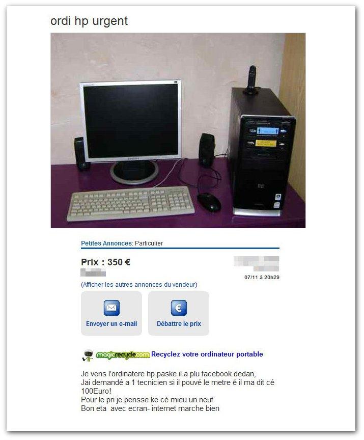 Les annonces de ventes qui nous font marrer ! - Page 18 Ordi-hp-urgent-Informatique-Les-Petites-Annonces-Gratuites-deBay-1